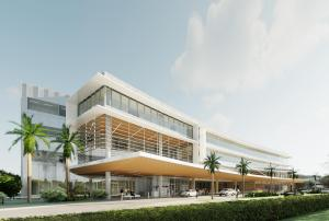 A rendering of the new destination medical building at Mayo Clinic.